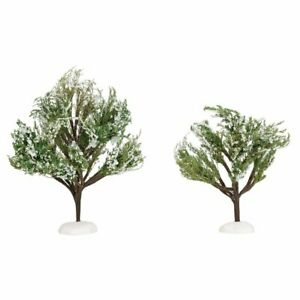 Christmas In The Oaks 2019.Details About Department 56 White Christmas Oaks 6005031 New 2019 Village Landscape Trees