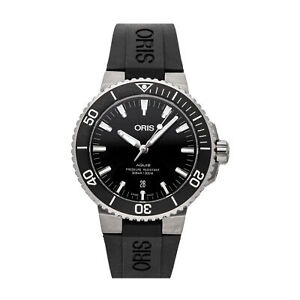 Oris Aquis Date Auto Steel Mens Strap Watch 01 733 7730 4124-07 4 24 64EB