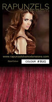 """DIY clip in human remy hair extensions 20"""" long weave/weft all colours"""