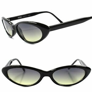6cce495455 Details about Classic True Vintage 50s 60s Green Lens Black Small Pointy  Cat Eye Sunglasses