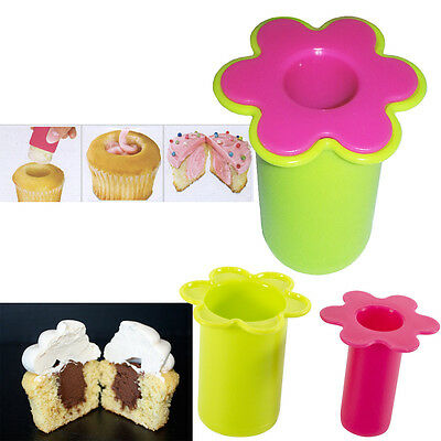 CUPCAKE CORER CAKE MUFFIN CORE HOLE REMOVER FILLER BAKING BAKEWARE JAM CREAM