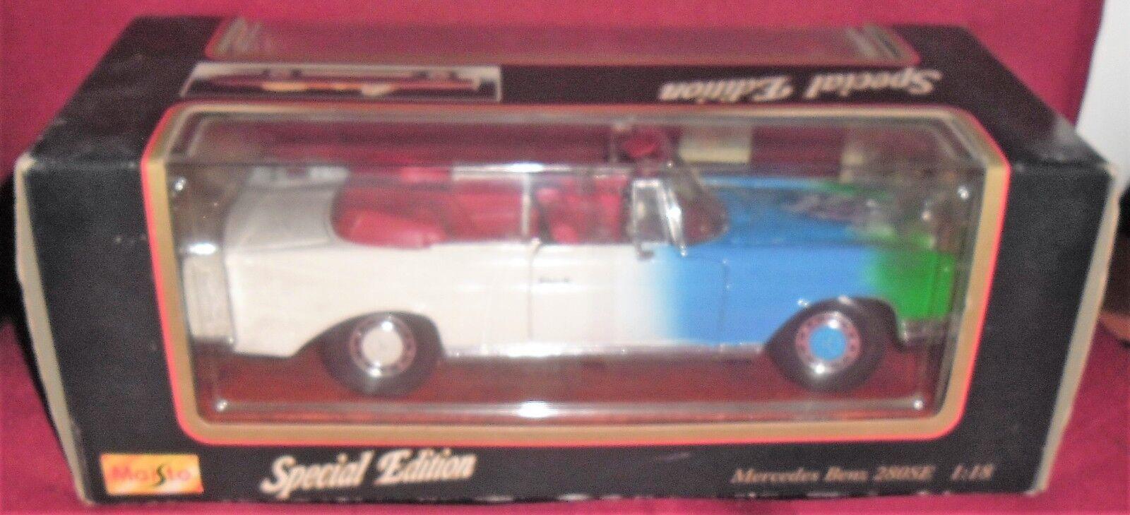 1 DIE CAST MAISTO Modèle car cabriolet-MERCEDES BENZ 280 SE 1966 SPECIAL EDITION