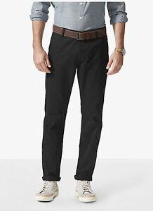 Dockers-Alpha-Stretch-Khaki-Slim-Fit-Tapered-Leg-Men-039-s-Black-Flat-Front-Pants