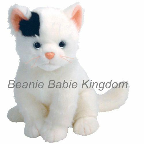 Ty  Beanie Buddy * DELILAH * The Black & White Cat Buddie 10 90026 RARE