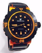 Swarovski Watch Octea Abyssal Automatic Orange 1124149 Men's Diver Watch 200M