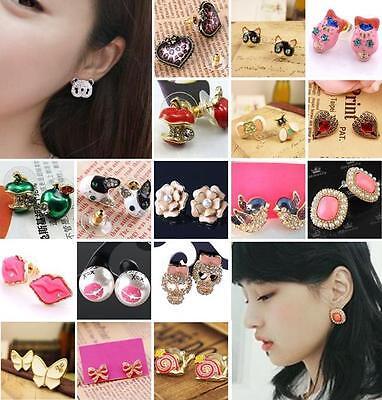 Pair Enamel Retro Ladies Fashion Earring Ear Stud Gift Various Pick