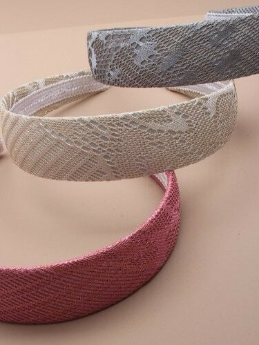 New Grey silk and lace Alice Band Hair Accessories