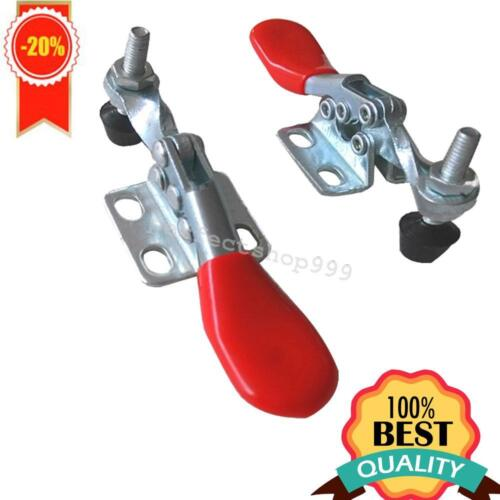 4pcs//lot Metal Horizontal Quick Release Hand Tool Toggle Clamps GH-201A Rubber