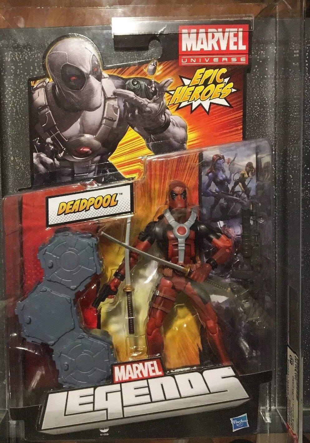 Marvel  Legends Epic Heroes Deadpool rosso Variant 6  azione cifra AFA 80  acquisto limitato