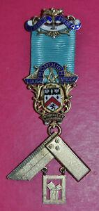 Masonic Past Master's Jewel Borough Lodge No 1064 sterling silver hallmark