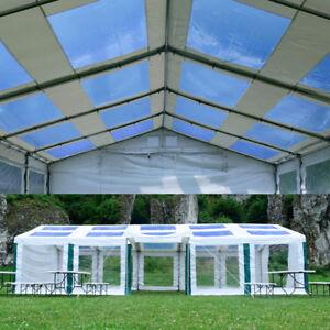 Partyzelt-PAVILLON-4x4m-6x12m-Gartenzelt-BIERZELT-Festzelt-mit-Fenster-NEU