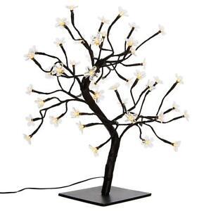 Baum mit Blüten 48 LED warm weiß Lichterbaum Weihnachtsdeko 45 cm Trafo Timer