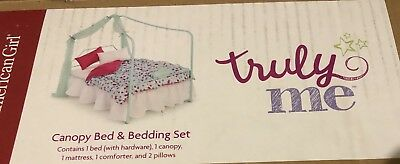 American Girl Canopy Bed /& Bedding Set~New