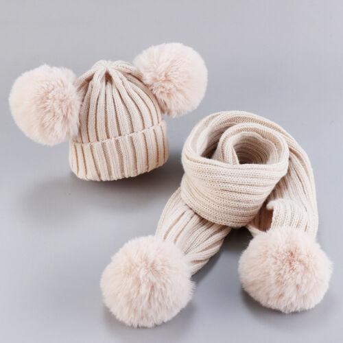 Schal Kinder Baby Jungen Mädchen niedlich halten warme Winter 2Pcs Baby mützen