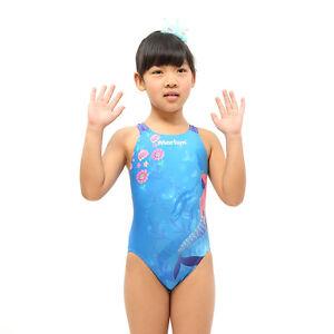 e63ca191cb724 Image is loading Little-Mermaid-Kids-Racing-Swimsuit-Girl-Competition- swimwear-