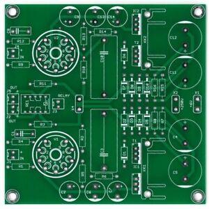Stereo-ECC88-preamplifier-PSU-set-of-PCB-DIY