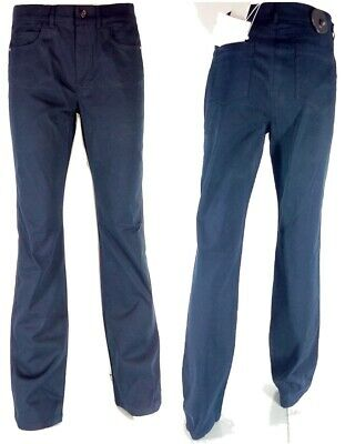 Pantalone Donna Taglia 42 L 34 Blu Marella Cotone Gamba Dritta Bootcut