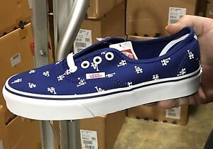 0a06744b088c Vans Authentic LA Los Angeles Dodgers Blue White Mens Womens Shoes ...
