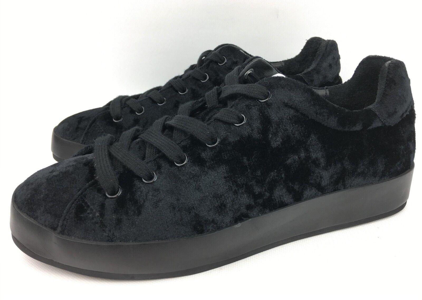 Rag & Bone Women's RB1 Low Velvet Black Sneakers sz  38   US 8 -  325
