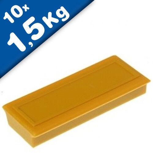 10 x Pinnwandmagnet Memomagnet 53 x 23 x 9mm Ferrit 1,5kg mit Etikettenfläche