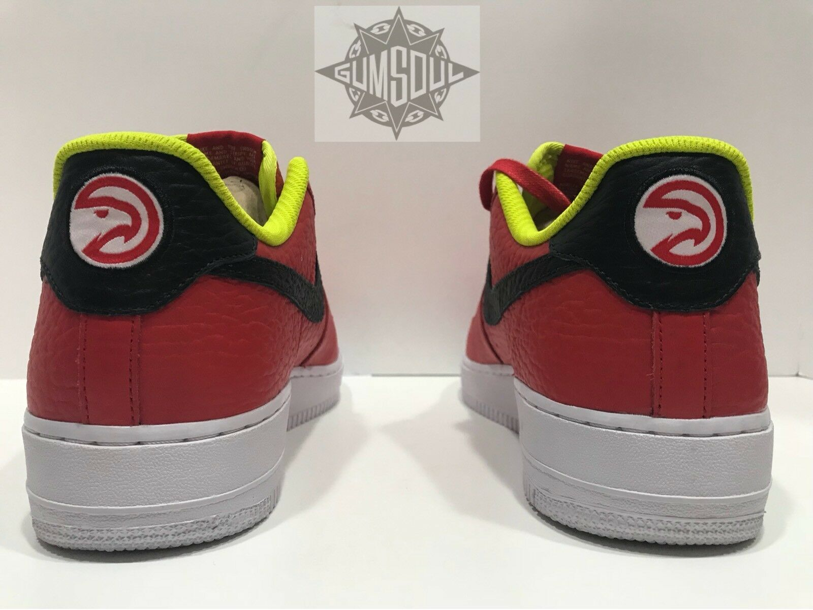 NIKE AIR FORCE 1 ID NBA ATLANTA HAWKS RED BLACK AQ3985 991 sz 10.5