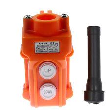 Crane Pendant Control Pushbutton Switch Hoist Station Up Down Waterproof Button
