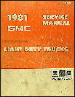 Motors Vehicle Parts & Accessories 1981 GMC Shop Manual Sierra ...