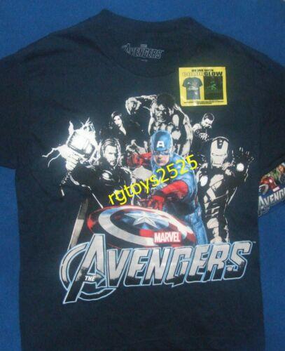 Marvel Avengers T-Shirt Child 14 16 18 Color Glow in Dark Capt America Ironman
