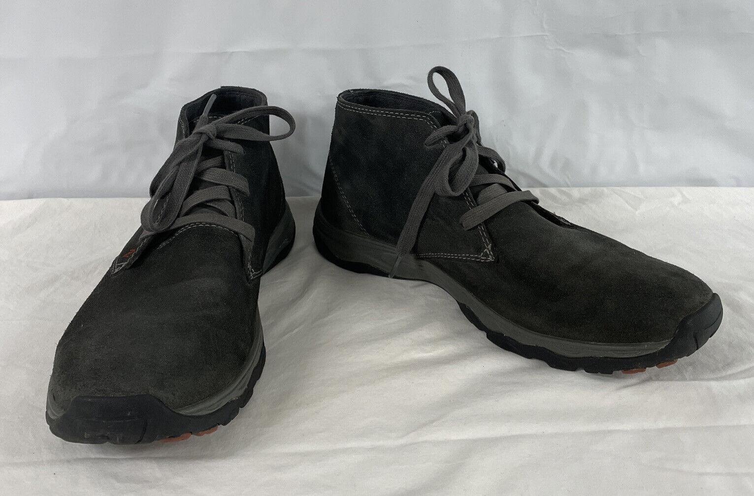 Eddie Bauer Mens Boots Ankle Departure 3387-766 Gray Suede Chukka Sz (12)
