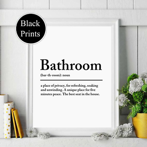 Details zu Bathroom Definition Wall Print Typography Home Decor, Wall Art,  bathroom Print