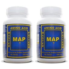 MAP Master Amino Acid Pattern MUSCLE BUILDER PROTEIN 2 Bottles 240 Tablets