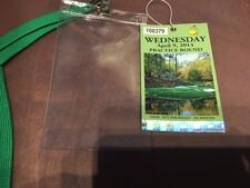2014 Masters Practice Round Badge Augusta National Golf Ticket