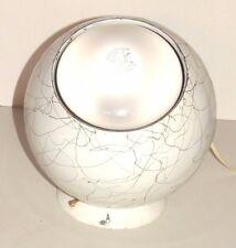 Vintage Space Age Retro Orbit Lamp Round Metal Globe White w/ Gold Splatter Cool
