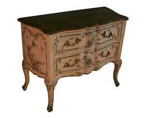 Italian-Rococo-Floral-amp-Butterfly-Painted-Chest-of-Drawers-Mid-19th-Century