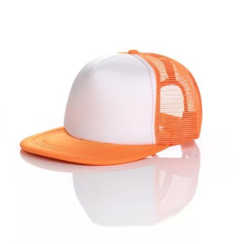 Unisex Mesh Plain Fitted Flat Visor Baseball Cap Basic Blank Solid Hat Sport Men