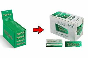 Full-Box-of-100-Booklets-Rizla-Green-Medium-Thin-Rolling-Cigarette-Papers