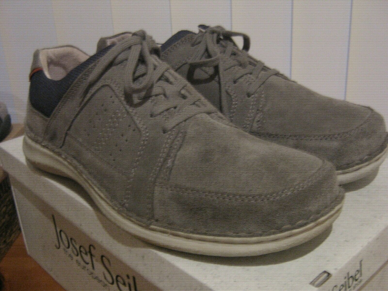 Josef Seibel Anvers 41 grau Suede Leather Lace Up Casual schuhe Extra Wide SALE