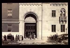 POSTCARD-MINNESOTA-ROCHESTER-MN-RPPC-ENTRANCE-TO-THE-MAYO-CLINIC-REAL-PHOTO