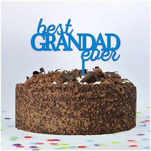 Astounding Best Grandad Ever Personalised Custom Birthday Cake Topper Dad Funny Birthday Cards Online Unhofree Goldxyz