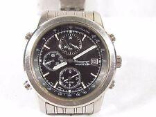 SEIKO Quartz Chronograph Sports 100 men's Wrist Watch 7T32-7D89 runs Stainless +