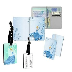 047377c24 Image is loading Cute-Cartoon-Cinderella-Disney-Movies-Pattern-Passport- Cover-