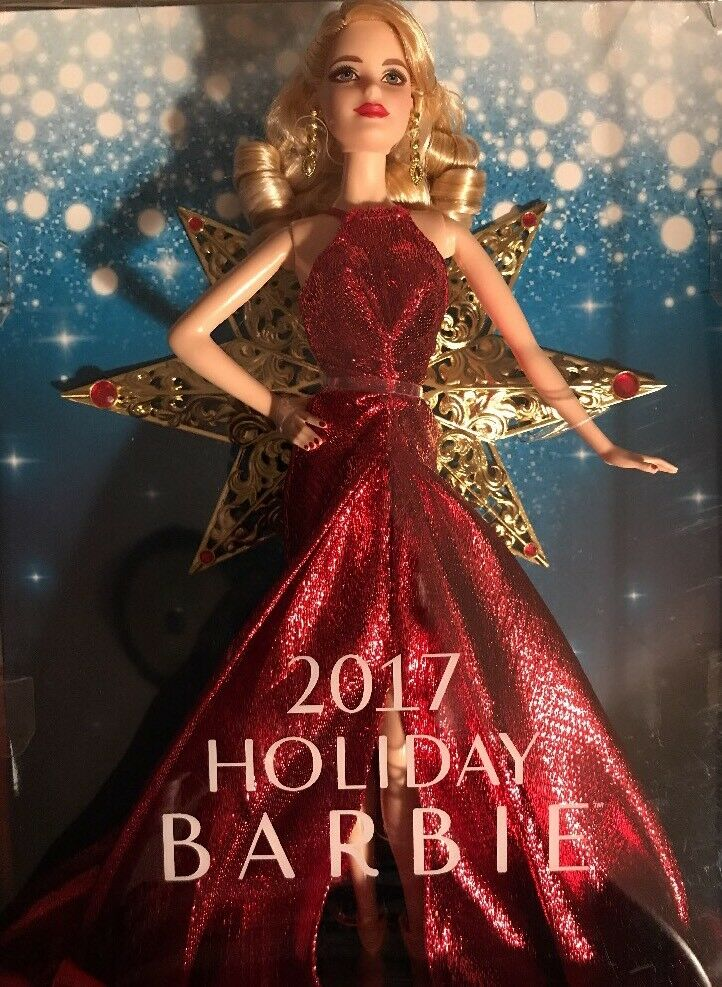 2017 Holiday Barbie Doll Blonde Caucasian Christmas Collector Gift NEW IN BOX