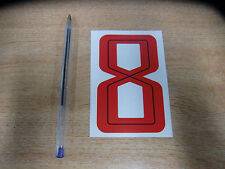GUY MARTIN race number 8 - Red & Black Sticker / Decal 100mm