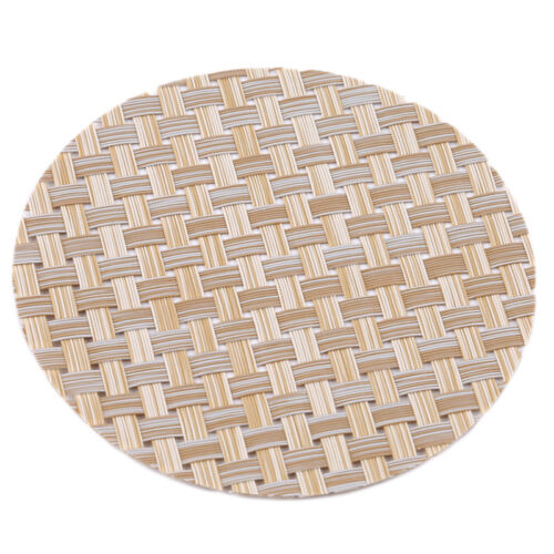 1 Pc Table Placemat Round Coasters Insulation Pad PVC Fur Dining Table Mat FM