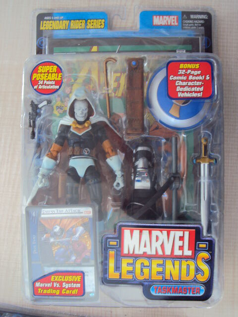 MARVEL LEGENDS LEGENDARY RIDER SERIES : TASKMASTER 2005 TOY BIZ NEUF AVENGERS