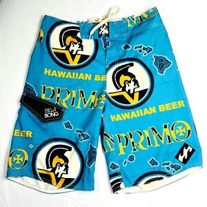 c72f14f660 Primo Beer Billabong Board Surf Swim Shorts Trunks Mens Size 30 Blue ...