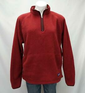 Patagonia-Synchilla-Fleece-1-4-Zip-Pullover-Sweater-Red-Women-039-s-XL