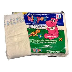 Vintage Hippos Plastic Backed Diaper Size Junior *Huge* Rare Spain Import