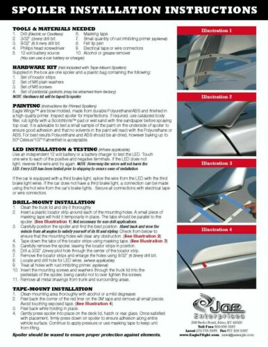 Factory Style 2-Post Mount Painted Rear Spoiler Fits 07-12 Toyota Yaris Sedan