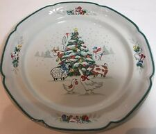 International Tableworks Set Of 4 Dinner Plates England Country Christmas  8966